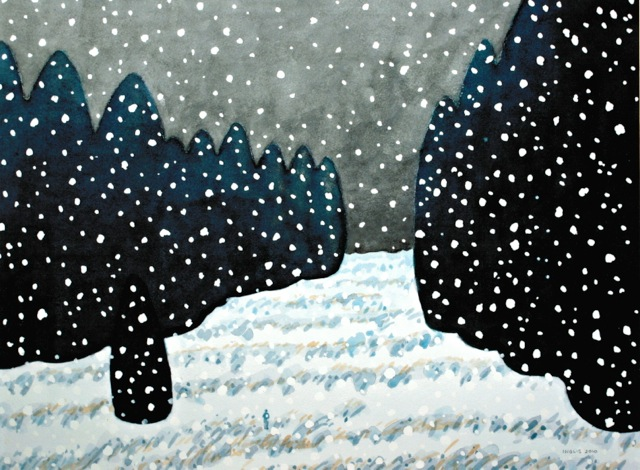 "Early Snow, 2010, 17"" x 23"""