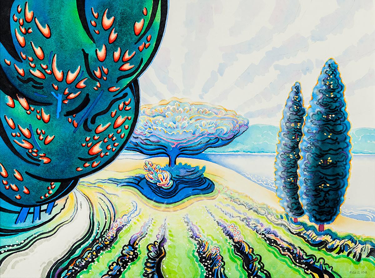 "Tree of Life, 2012, 16.75"" x 22.25"""